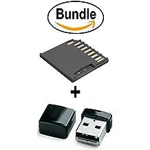 Macbook Adaptateur pour carte mémoire microSD pour MacBook Air 13 inch / Pro13 Inch / Pro 15 inch / Dell XPS13 Noir + Mini MicroSD USB Adaptateur Noir