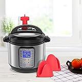 Uiter Dampfabgabe Zubehör für Schnellkochtopf Dampfabweiser Lebensmittelqualität Silikon-Topfhalter Druckablass-Zubehör für Schnellkochtöpfe Duo, Duo Plus, Smart Models (6 QT, 8QT, Mini 3QT), Rot
