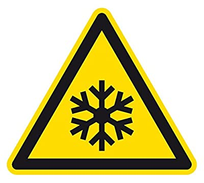 Warnzeichen - Warnung vor niedriger Temperatur/ Frost - Aluminium Selbstklebend