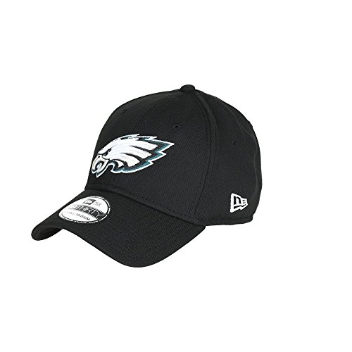 New Era NFL PHILADELPHIA EAGLES Black Base 39THIRTY Stretch Fit Cap, Größe:M/L