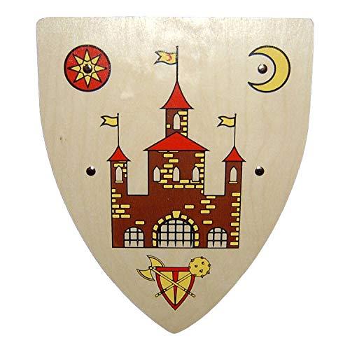 Ritter Kinder Holz Schild mit Drachen Wappen Adler (Schild Ritterburg)