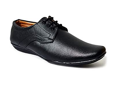 1ae492bfb951 feetway Flat and Smooth Synthetic Leather Lace Up Black Formal Shoes for Men