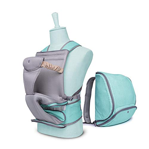 YUMEIGE Babytragen Babybauchtragen Laden 18 kg für 0-36 Monate, Babytrage für Neugeborene Taille 23.6-47.2in, Babytrage für Baby Baumwolltuch (Color : Blue)