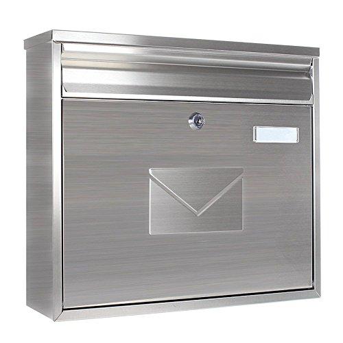 BaByliss Profirst Mail PM 460 Design-Briefkasten aus gebürstetem Edelstahl mit Namensschild