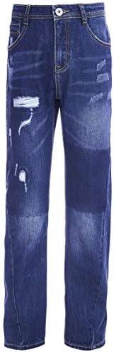GULLIVER Vaqueros para niños, color azul, desgarrados, desteñidos, 8-13 años, 146-164 cm