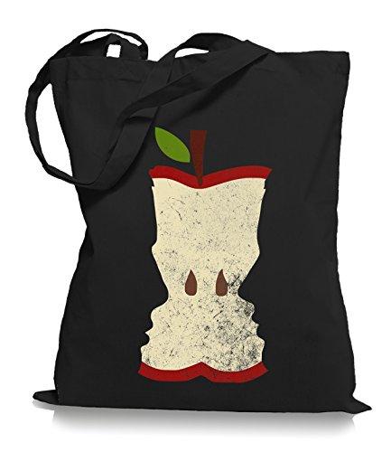 Valentins Stoffbeutel Black Ma2ca® WM101 Bag Tragetasche Einkaufstasche Apfel Faces wR6qPp