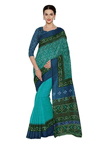 Bollywood Indische Kleider Damen Sari mit Ungesteckt ungesehen Oberteil/bluse Mirchi Fashion hochzeit indians saree kleidung (Sari Bollywood)
