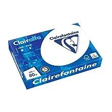 Clairefontaine 1979C Carta da stampa opaca Clairalfa (1 Ries con 500 fogli, A4, 21 x 29,7 cm, 80 g, ideale per copie e stampe giornaliere) bianco