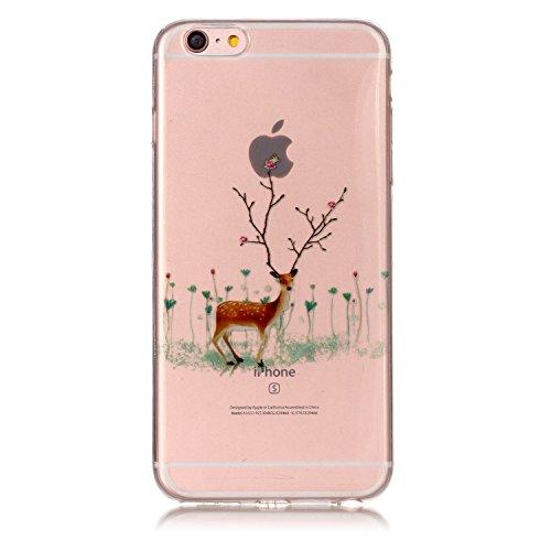 Cover iPhone 6 Plus iPhone 6sPlus, Sportfun morbido protettiva TPU Custodia Case in silicone per iPhone 6Plus iPhone 6sPlus Natale (04) 02