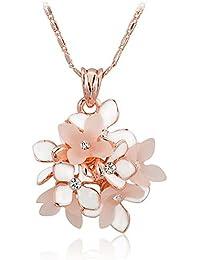 1c532989ca7d XZJX Moda Dama Temperamento Salvaje Pequeña Flor Colgante Collar Vestido  Personalidad Accesorios Simples