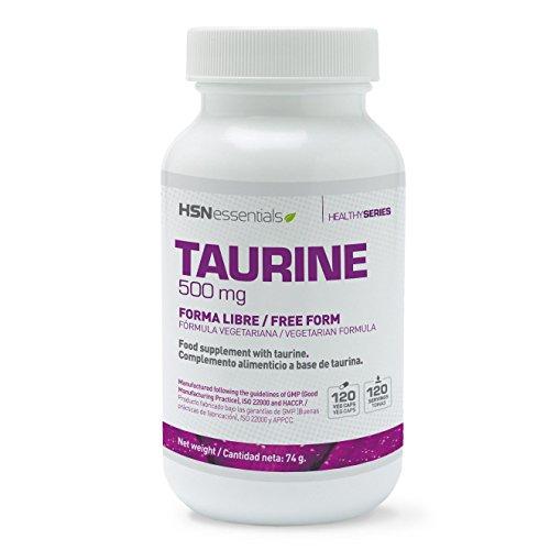 HSN Essentials - Taurina - 500mg Aminoácido Esencial - 120 Cápsulas