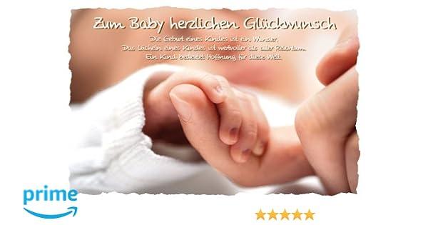 Glückwunschkarte Geburt Zum Baby Herzlichen Glückwunsch 11x17