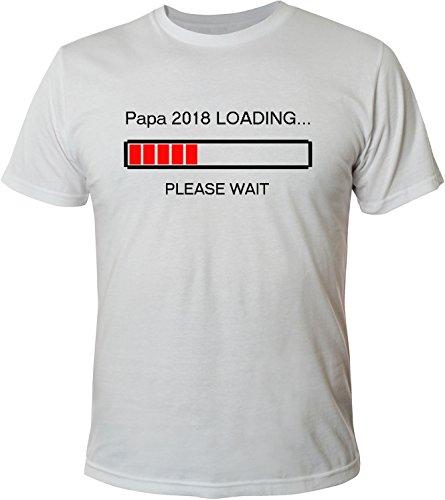 Mister Merchandise Herren Men T-Shirt Papa 2018 Loading Tee Shirt bedruckt Weiß