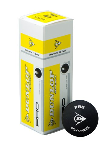 DUNLOP Pro Squashbälle 3er – 2 yellow dots