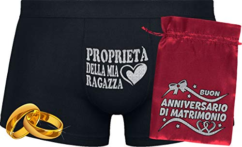 Herr Plavkin proprietà della mia Ragazza | Custodia ''Matrimonio.'' | Black Boxers & Red Bag '' Wedding.''