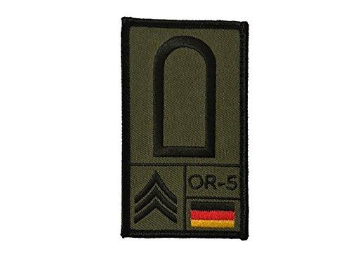 Café Viereck ® Stabsunteroffizier Bundeswehr Rank Patch mit Dienstgrad - Gestickt mit Klett - 9,8 cm x 5,6 cm