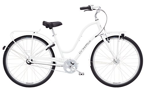 Electra Townie Commute 7i EQ Ladies White mit LED Beleuchtung