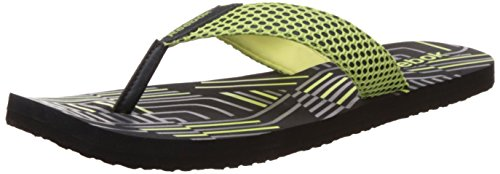 Reebok Men's Sport Flip Gravel, Luminous Lime and Grey Flip-Flops and House Slippers – 9 UK/India (43 EU) (10 US) 41Gqp13AlWL