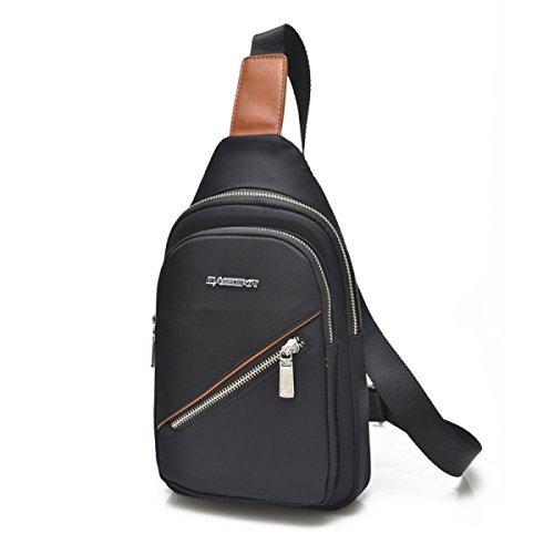 BULAGE Pack Brusttasche Nylon Männer Natur Sport Mode Freizeit Langlebig Bequem Luft Schmutz Und Praktisch Black