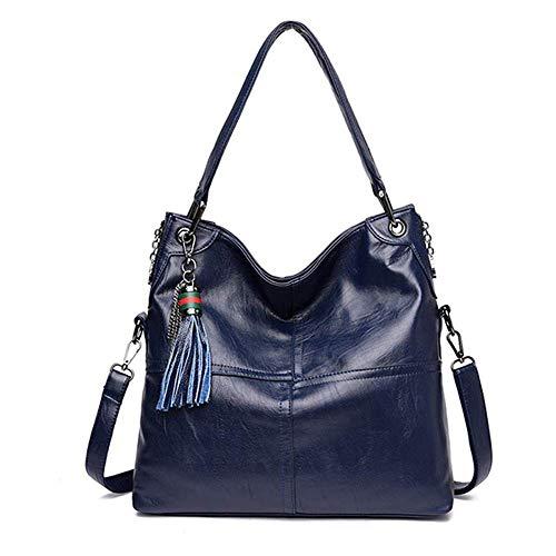 LYLb Wilde einzelne Schulter Messenger Bag Damen Tasche große Kapazität, Nähte Textur, Quaste Dekoration (Farbe : Lila)