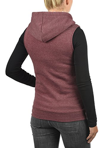 DESIRES Derby Pile - Gilet da Donna Wine Red Melange (8985)