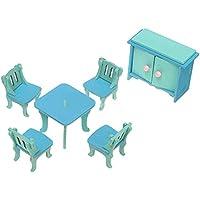 Preisvergleich für Nuohuilekeji Holz-Miniatur-Puppenhaus-Möbelset, Spielzeug, Weihnachtsgeschenk für Kind/Kinder