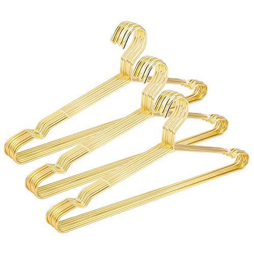 QZTG kleiderbügel Goldene Metallkleidung-Hemd-Aufhänger mit Nut, Starke Kragen-Aufhänger, Anzug-Aufhänger, Draht-Aufhänger (30 Pc/Los) - Damen Anzug Kleiderbügel