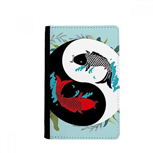 beatChong Fisch China Taichi Acht Diagramm-Pass-Halter Travel Wallet Abdeckungs-Fall Karten-Geldbeutel (Architektur-diagrammen)