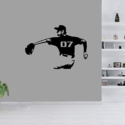 48 cm * 33.7 cm guante de béisbol interesante decoración etiqueta de la pared sala de estar de PVC el dormitorio cocina y gimnasio