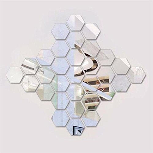 Voiks DIY 3D Acrílico Espejo Hexagonal