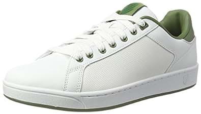 K-Swiss Clean Court Cmf, Scarpe Basse da Ginnastica Uomo, Verde (Olivine/White 312), 41 EU