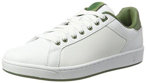 K-Swiss Herren Clean Court CMF Sneakers Weiß(WHITE/OLIVINE)