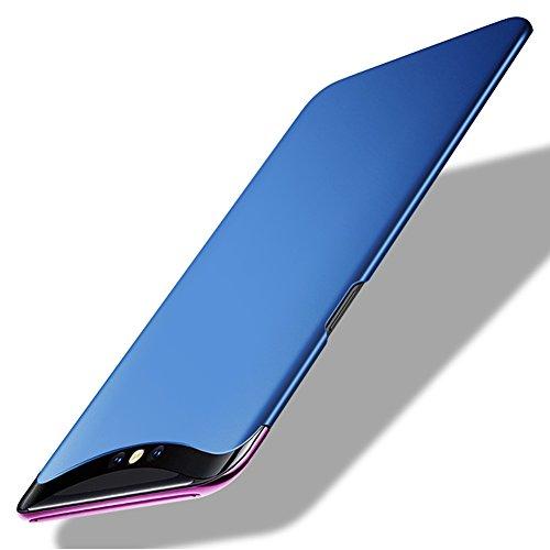 TopACE Oppo Find X Hülle, Bumper Hülle Oppo Find X Schutzhülle PC Plastik Harte Case Ultra Slim Matt Handyhülle Für Oppo Find X (Blau)