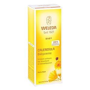 WELEDA Baby Calendula Babycreme, Naturkosmetik Wundsalbe für den Schutz empfindlicher Babyhaut im Windelbereich, hilft bei Rötungen, gereizter Haut und Wundsein (1 x 75ml)