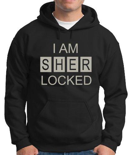 Touchlines Herren Kapuzen Pullover I AM SHER LOCKED Sweatshirt, Black/Silver, M, B230713KS Preisvergleich