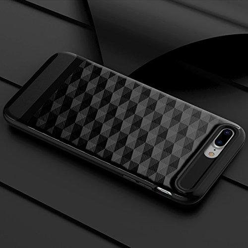 GR 3D Diamond PC + TPU Kombination Schutzhülle für iPhone 7 Plus ( Color : Silver ) Black