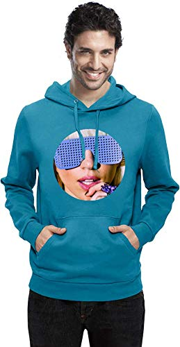 Lady Gaga Blaue Sonnenbrille Blue Sunglasses Men Hoodie Sweatshirt Stylish Fashion Fit Custom Apparel by X-Large