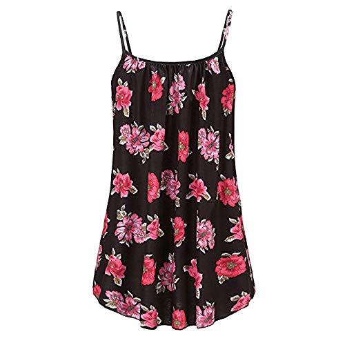Yvelands Damen Weste Unterhemd ärmellose T-Shirts Sommer gedruckt Bluse Tank Tops Camis ()