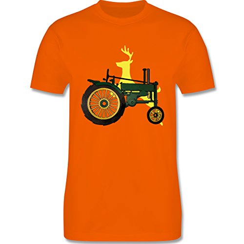 Landwirt - Traktor Hirsch Deere - Herren Premium T-Shirt Orange