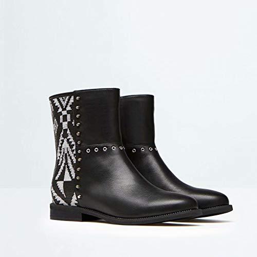 9a718158973f3 TK-Shoe Martin Stivali Moda Scarpe e Stivaletti Stivali con Borchie Stivali  da Neve con