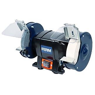 FERM BGM1020 Amoladora (150 mm, 250 W, muela doble, 230 V, Set de 8 Piezas)