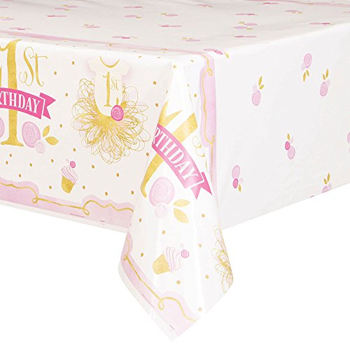 rthday Rectangular Plastic Table Cover, 54