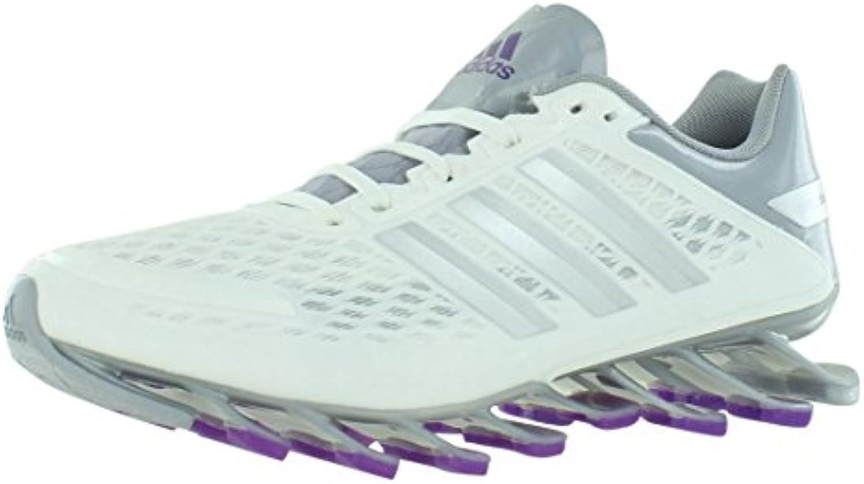 les baskets adidas springblade rasoir rasoir rasoir taille régulière nous 8, largeur, de couleur blanc / argent / Gris  df1663