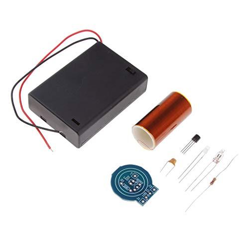 SM SunniMix Mini Tesla Coil Plasma Wireless Transmission Experiment Modellbausatz Kit, Batteriebetrieben
