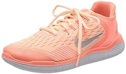 Nike Mädchen Free Run 2018 Laufschuhe, Pink Tint/Gunsmoke/Crimson 800, 39 EU