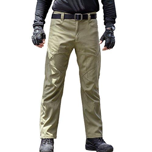 Arbeit Cargo Hose - Herren Tactical Outdoor Leicht Wasserabweisend Elastische Taille Multi Taschen Combat Pants (Khaki 40) Field-cargo-hose
