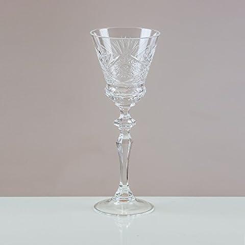 Victoria CRYSTAL Sunburst calici da vino, 24% cristallo al piombo