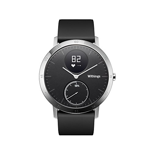 Withings Steel HR, Orologio con Funzione Activity Tracking e Monitoraggio della Frequenza Cardiaca Unisex-Adulto, Nero, 40 mm