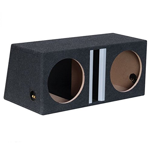 Doppel Basstunnel Subwoofer-Leergehäuse 12″/30cm 2x50L - Doppel-audio-subwoofer
