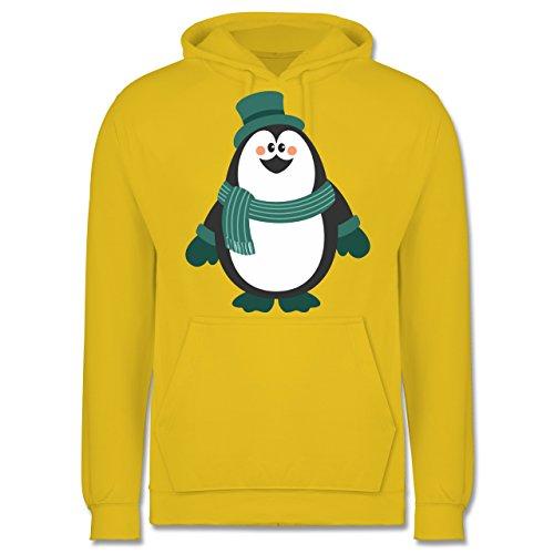 Weihnachten & Silvester - Winter Pinguin Hut Schal - Männer Premium Kapuzenpullover / Hoodie Gelb